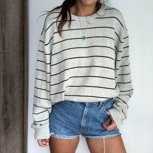 Nautica Long Sleeve Striped Crew Neck Sweater
